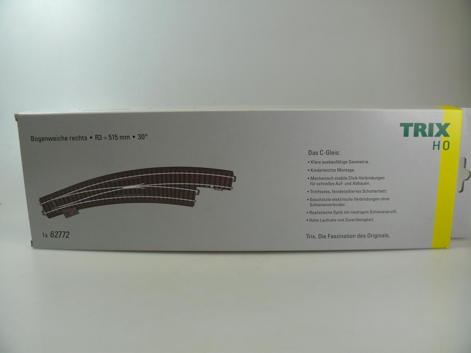 H0 neu TRIX 62771 /'Bogenweiche links/'